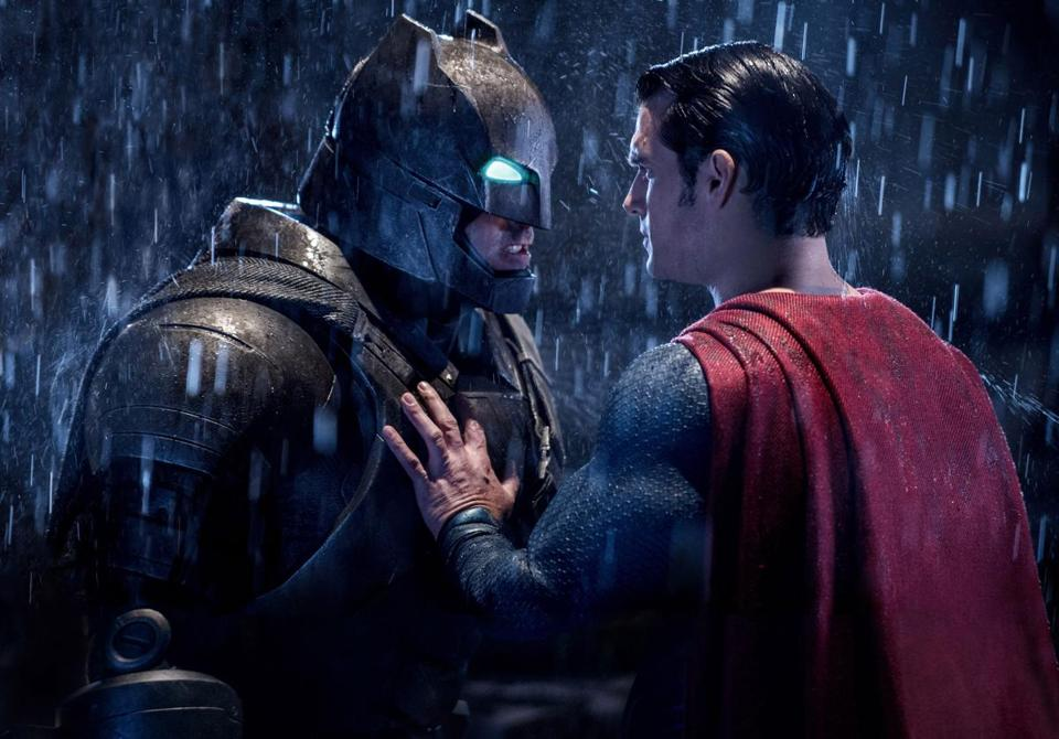 "Ben Affleck (left) and Henry Cavill in ""Batman v Superman."""